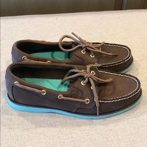 Sperry Shoes - Brown Leather Sperry Top Sider Shoes Women Sz 6.5